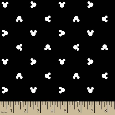Disney Mickey Head Dot Toss Poplin Fabric by the Yard - Disney Ariel Fabric