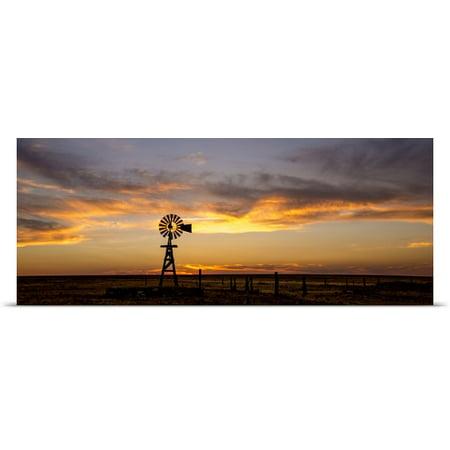 Great Big Canvas Dan Ballard Poster Print Entitled Plains Windmill