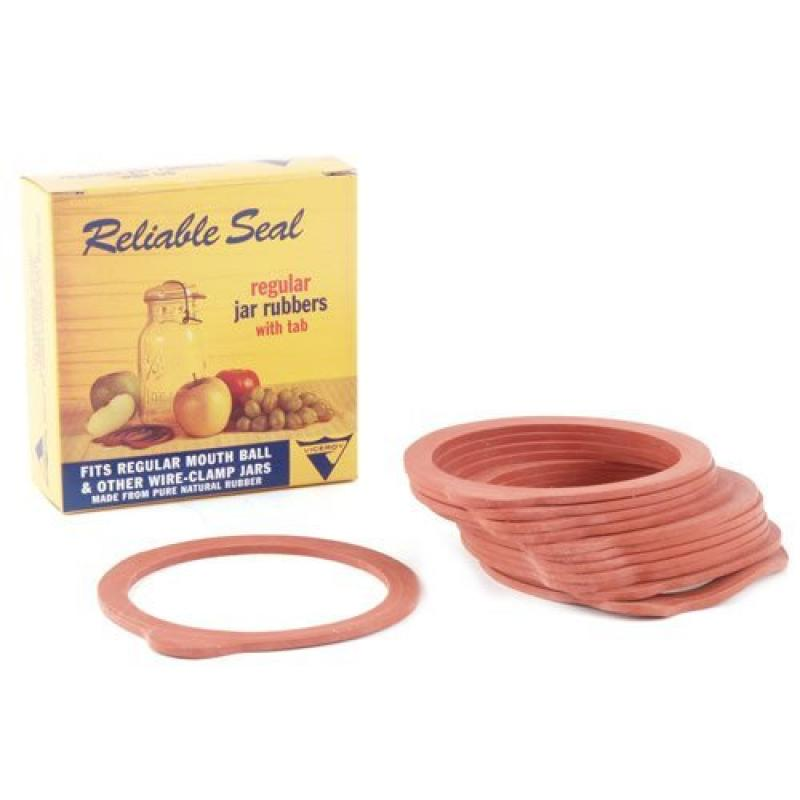 12 Red Regular Jar Rubber Canning Rings (Pack of 1)