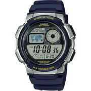Casio AE1000W-2AV Men's Blue Resin Band 5 Alarms Chronograph World Time Watch