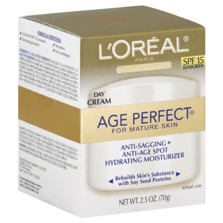 2 Pack - L'Oreal Age Perfect for Mature Skin Day Cream SPF 15 2.50 oz (Boots No 7 Face Cream For Mature Skin)