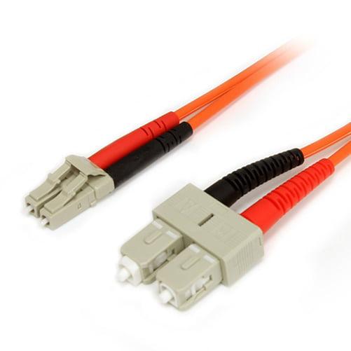 Startech FIBLCSC3 Fiber Optic Cable   Multimode Duplex 62.5/125   LSZH   LC/SC   3 m