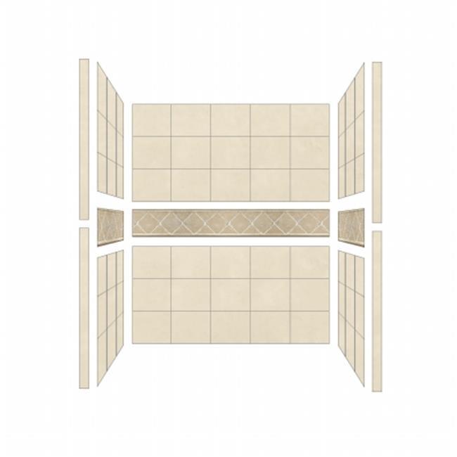 American Bath S603680FL Single 60 x 36 in. Flagstaff Walls