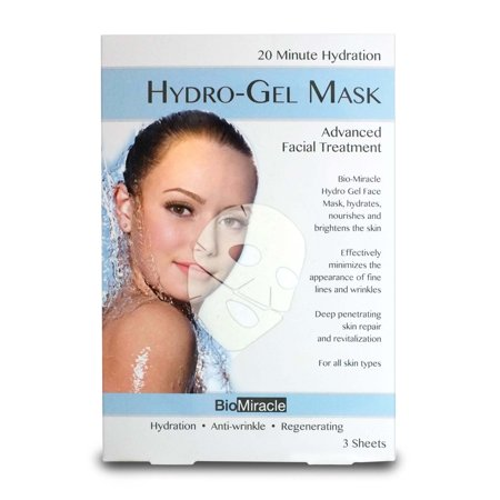 BioMiracle Hydro-Gel Face Mask, 3 Ct