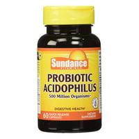 Sundance Probiotic Acidophilus 500 Million Organisms Quick Release Capsules, 60 Ea, 2 Pack