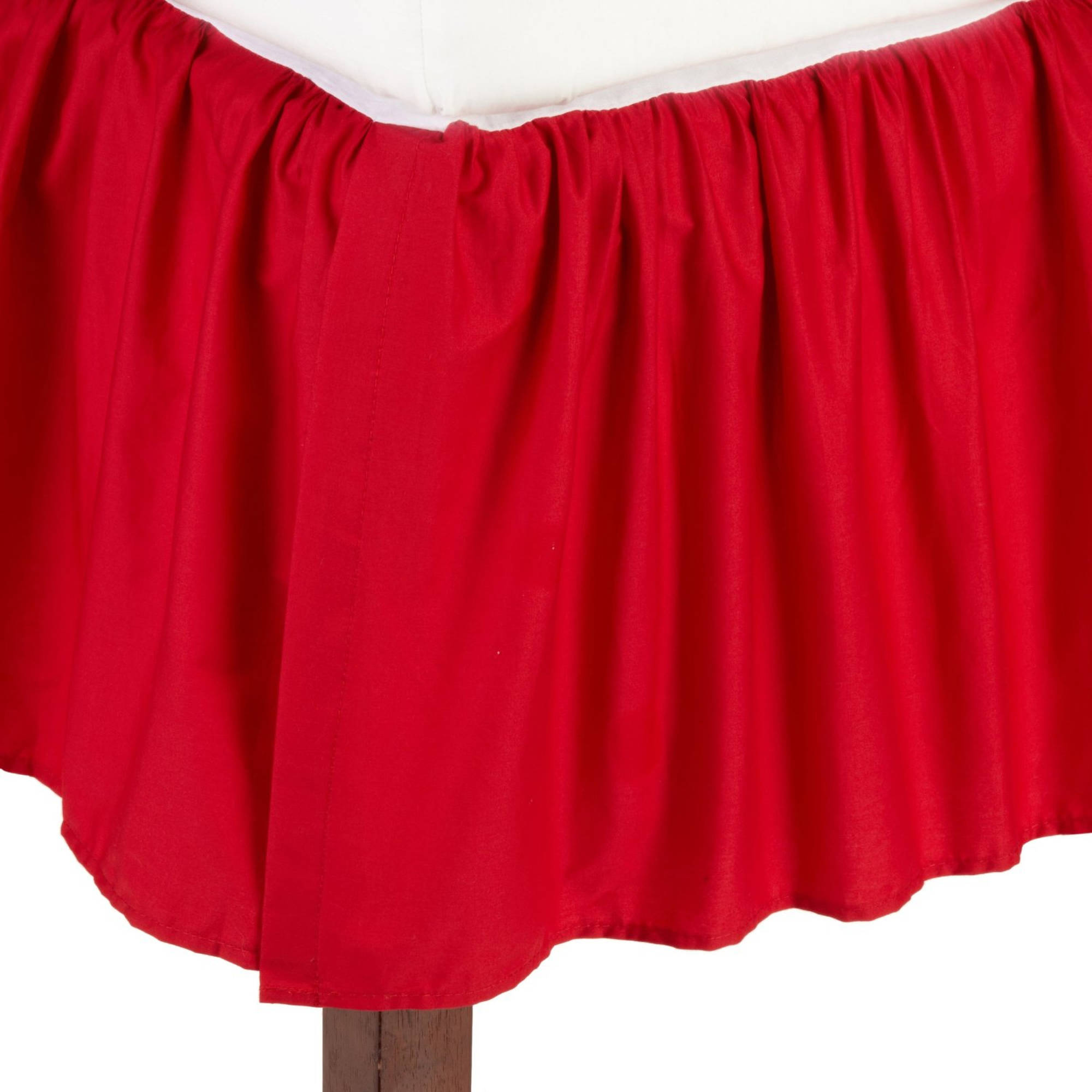 TL Care Cotton Percale Crib Bed Skirt, Red