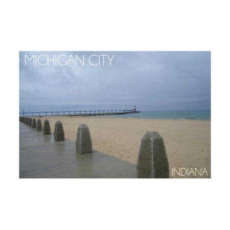 Michigan City, Indiana - Lighthouse 2 Print Wall Art By Lantern Press (Michigan City Lighthouse)