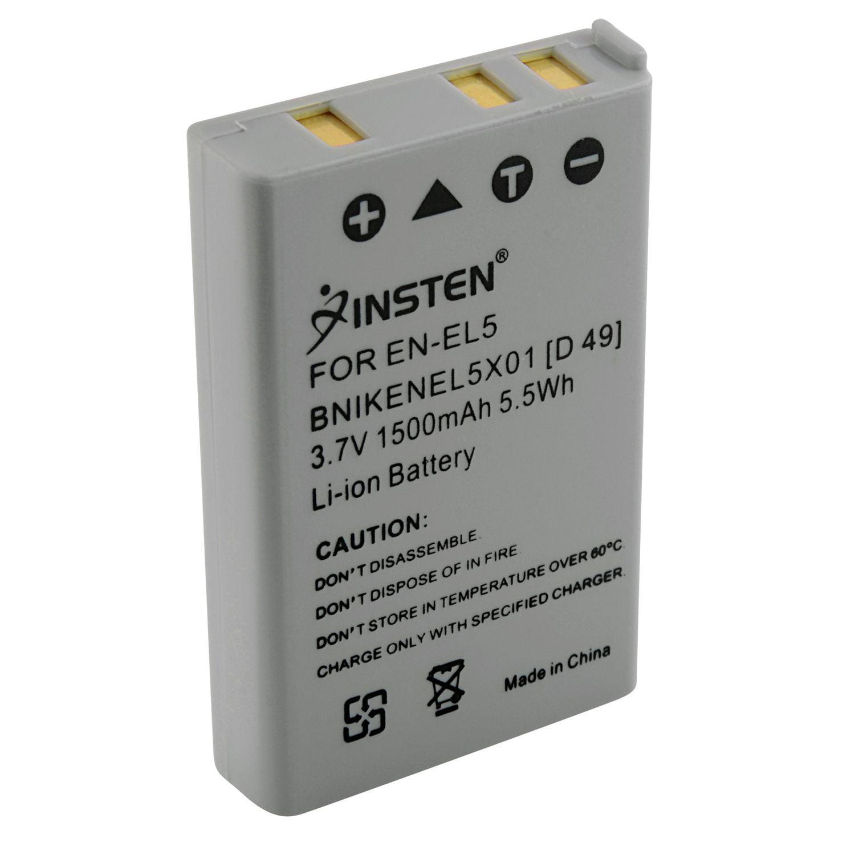 Insten 2-Pack EN-EL5 Replacement Battery for Nikon CoolPix P90 P100 P500 P510 P520 P530 P6000 P3 P4 Digital SLR Camera by Insten
