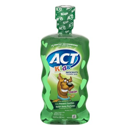 Act Kids Scooby Doo Kiwi Watermelon Anticavity Fluoride Rinse  16 9Oz