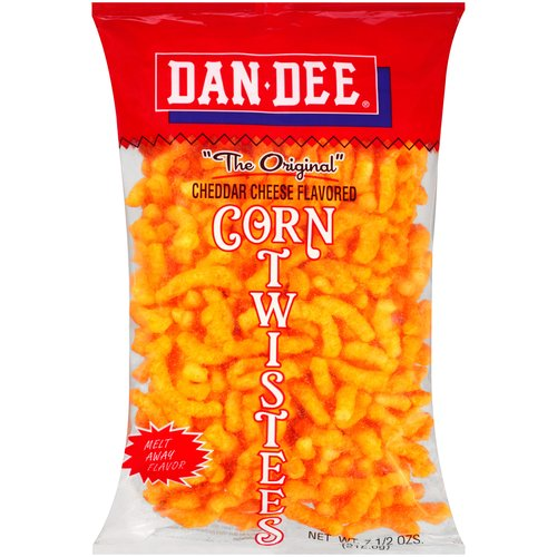 Dan Dee Cheddar Cheese Flavored Corn Twistees, 7.5 oz