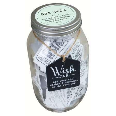 Wish Jar - Top Shelf Get Well Wish Jar ; Unique and Thoughtful Gifts for Friends and Family ; Kit Comes with 100 Tickets and Decorative Lid