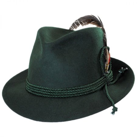 Made in the USA - Classics Bavarian Wool Felt Hat - XL - Dark - Bavarian Hat