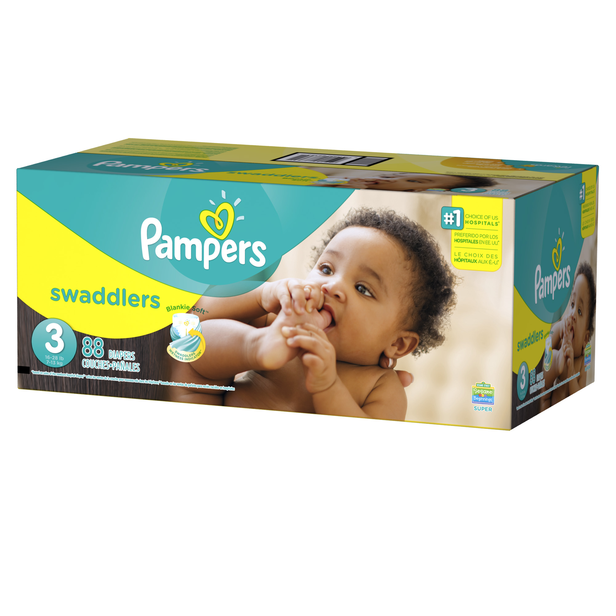 Pampers Swaddlers Diapers Size 3 88 count