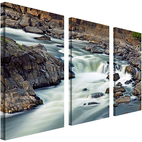 "Trademark Art ""A Treasure"" Canvas Art by CATeyes, 3-Piece Panel Set, 12x24"