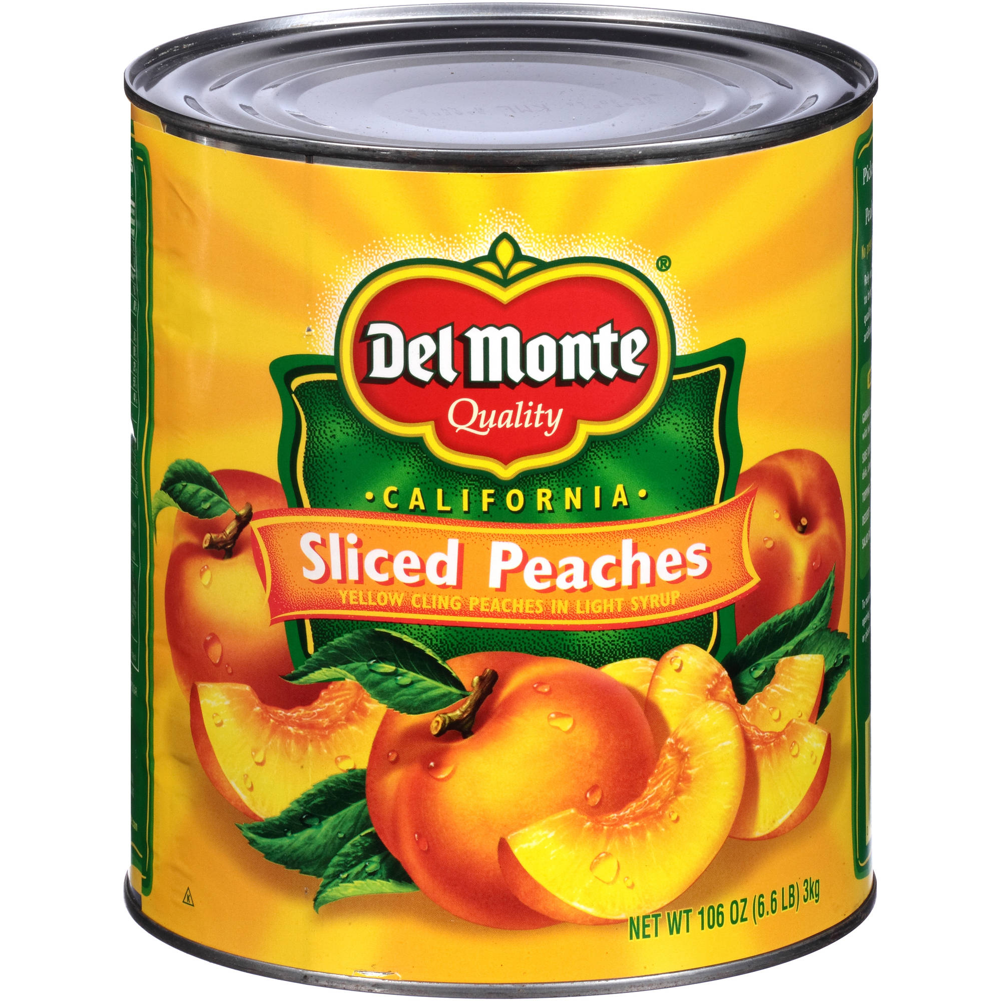 Del Monte California Sliced Peaches, 106 oz