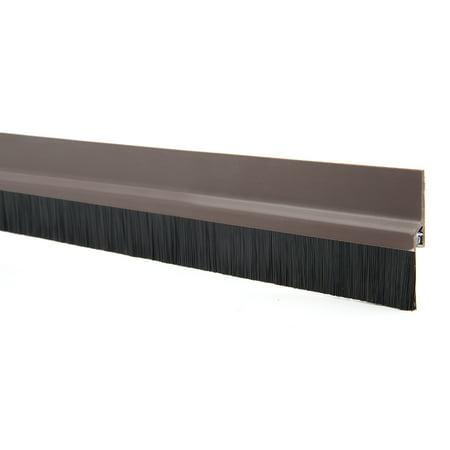 Self-Adhesive Door Bottom Sweep Brown Plastic w 0.8-inch PVC (Brown Door Sweep)