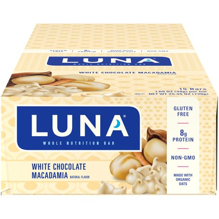 Luna® White Chocolate Macadamia Whole Nutrition Bars 15-1.69 oz. Bars