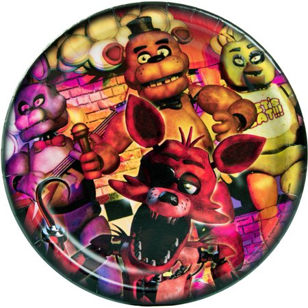 9  Five Nights At Freddys Party Plates  8Ct