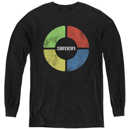 Trevco Sportswear HBRO307-YL-3 Simon & Simple Simon-Youth Long Sleeve T-Shirt, Black - Large - image 1 of 1
