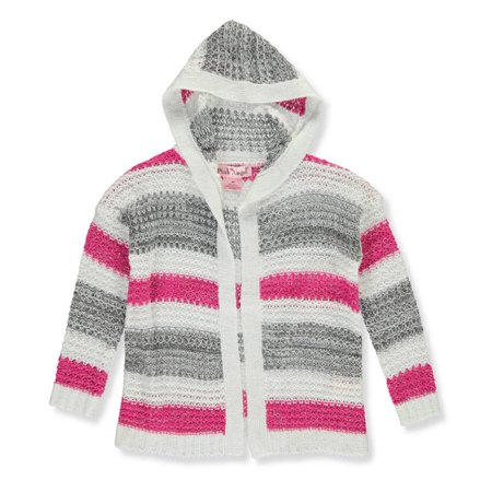 - Pink Angel Little Girls' Toddler Hooded Cardigan (Sizes 2T - 4T)
