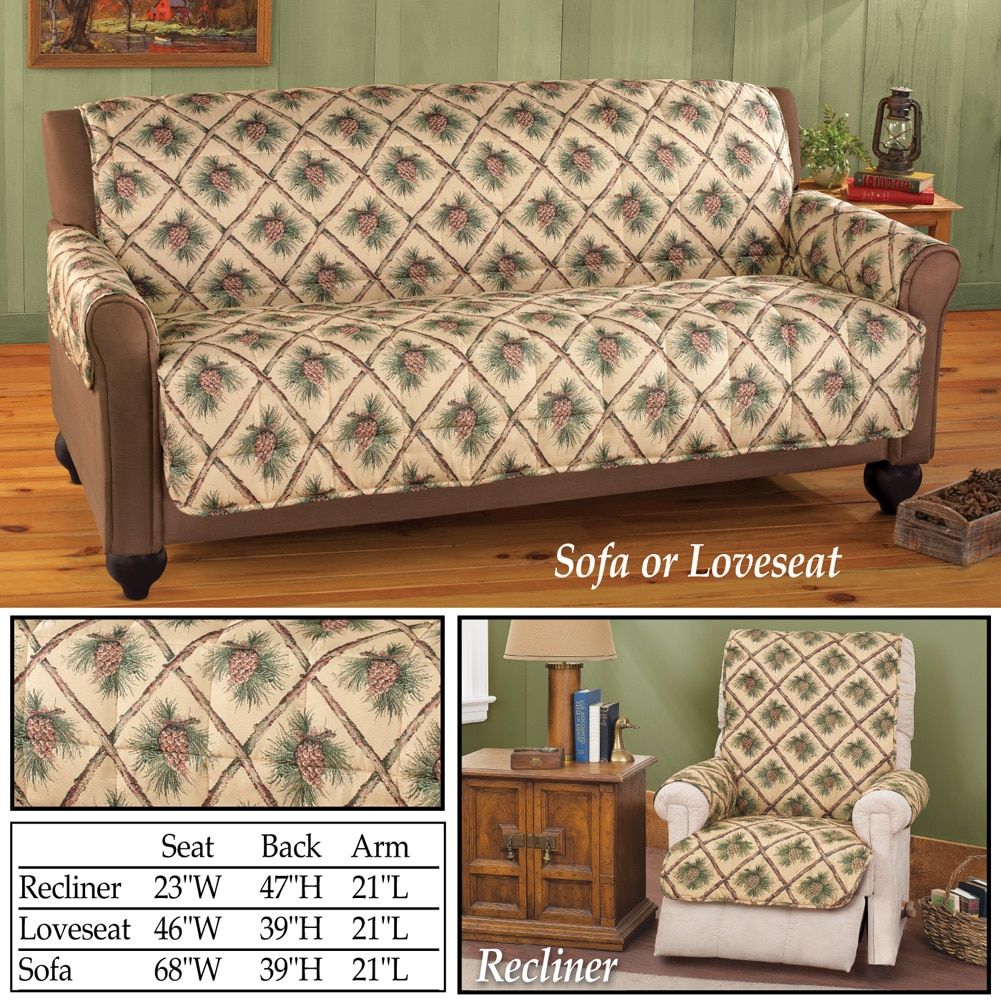 Pinecone Quilted Furniture Cover Protector, Loveseat, Natural   Walmart.com