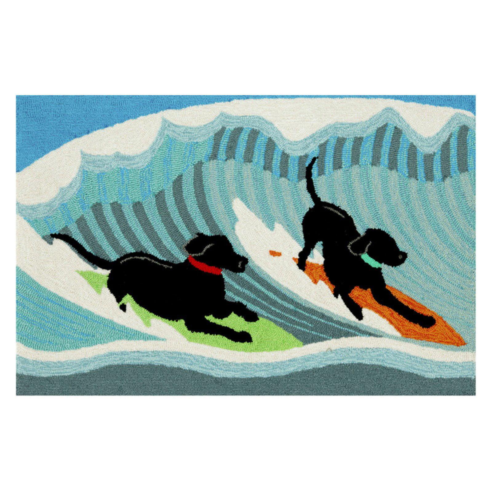 Trans-Ocean Rug Frontporch Surfing Dogs Doormat by Supplier Generic