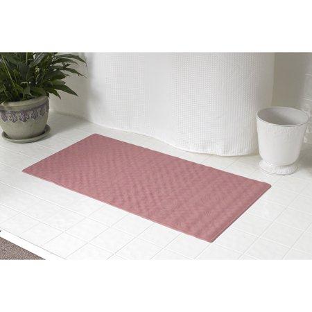 """Rubber bath tub mat in Rose, size 28"""" long x 16"""" wide - image 1 de 1"""