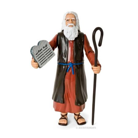 Character Stones (Moses Action Figure Genesis Bible Character Ten Commandments Stone Tablets)