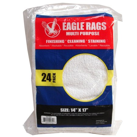 Eagle Rags Bar Rags All-purpose Bar Mop Towels, Cotton, Premium Grade for Commercial and Home Use - 24-pack - White (14' X 17') (24 pcs)