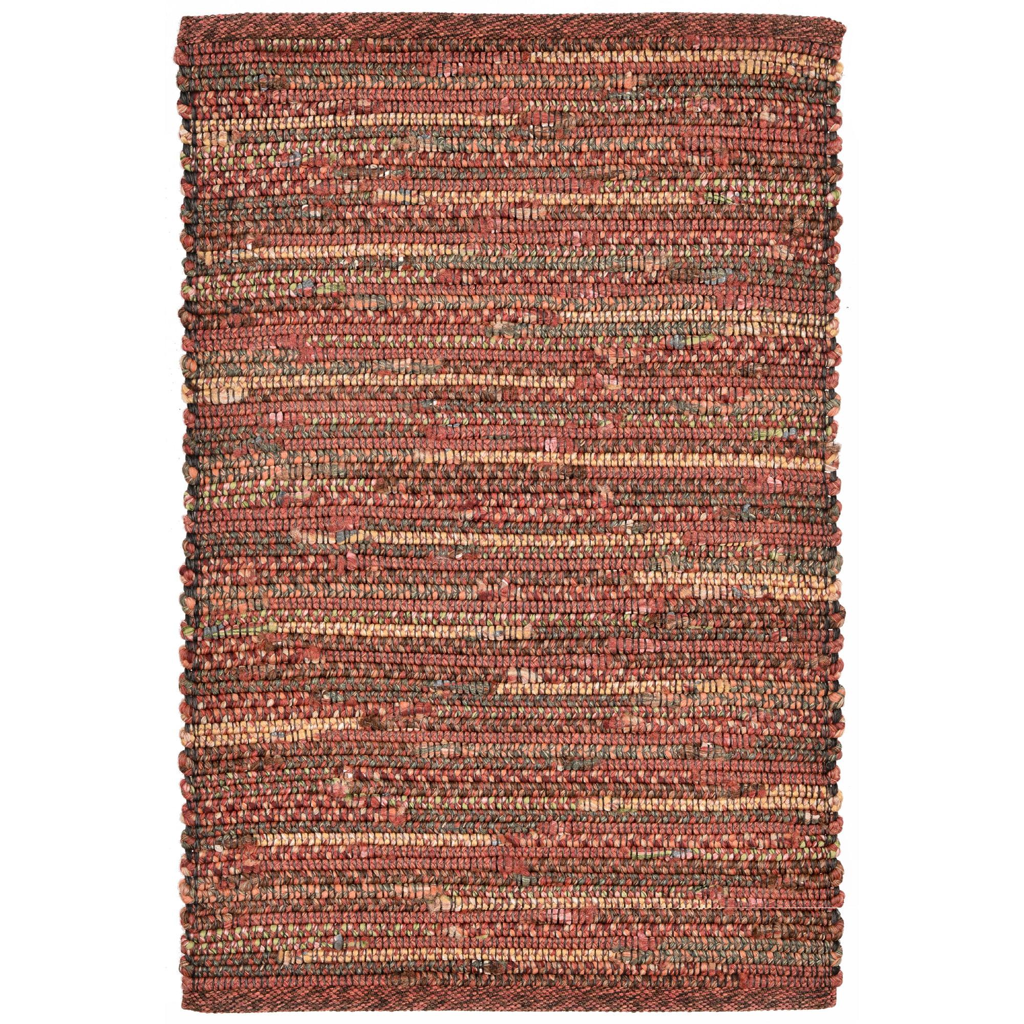 "Sahara Plains Rug-Color:Red,Size:36""Lx24""Wx0.25""H"