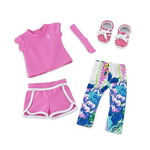 18 Inch Doll Clothes | Amazing Mix and Match Running Exercise Outfit, Includes Pink... by Emily Rose Doll Clothes