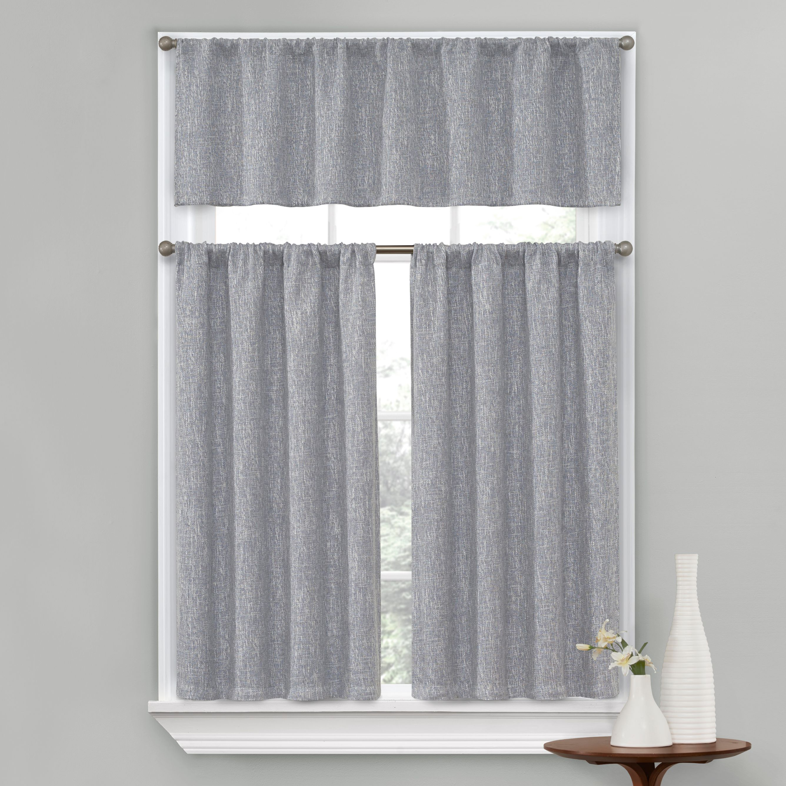 Better Homes And Gardens, Peyton Kitchen Curtain, Set Of 3