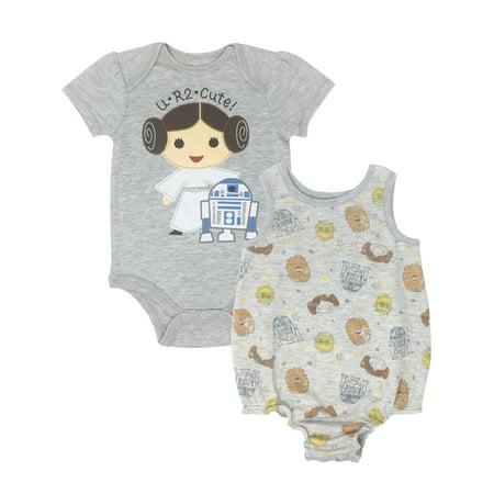 Baby Princess Leia (Star Wars Princess Leia Infant Baby Girls Bodysuit & Sleeveless Romper Set)