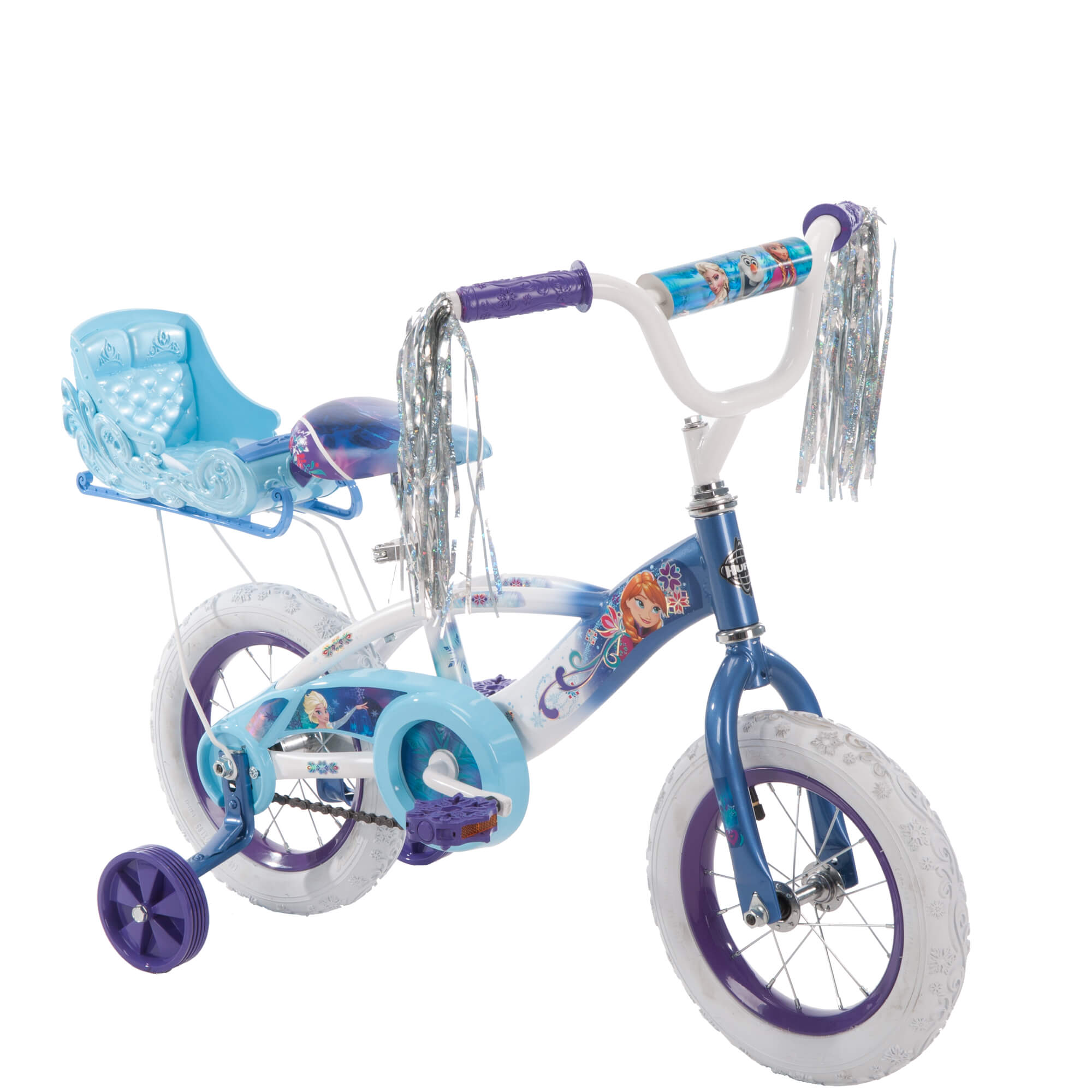 "Disney Frozen 12"" Blue Girls' Bike with Sleigh, by Huffy"