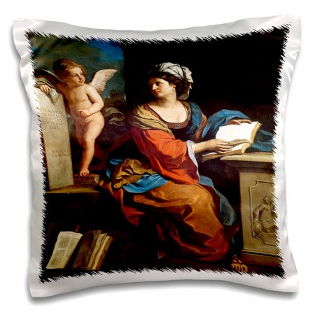 3dRose The Cumaean Sibyl, 1651 by Guercino Giovanni Francesco Barbieri - Pillow Case, 16 by (Giovanni Case)