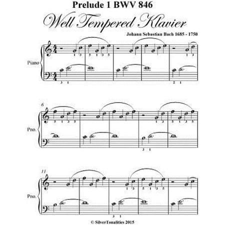 Prelude 1 Bwv 846 West Tempered Klavier - Easiest Piano Sheet Music - eBook