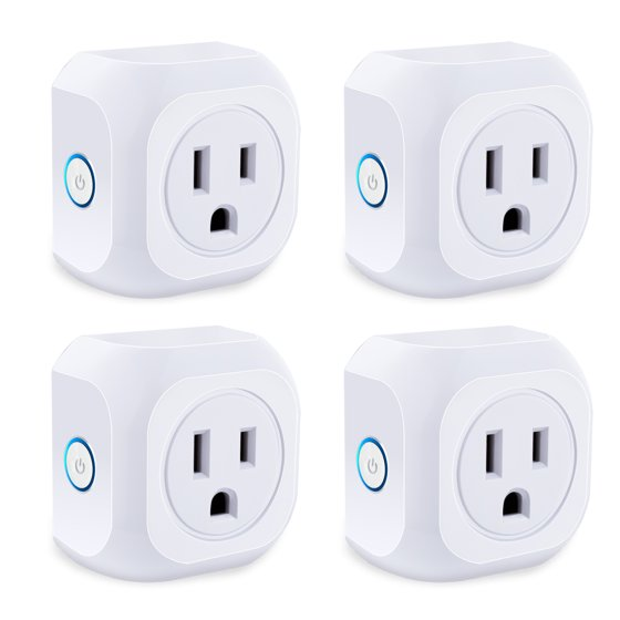 Smart Plug 4 Pack Wifi Enabled Mini Outlets Socket Compatible With Alexa Google Istant No Hub Required Timing Outlet Remote Control Your