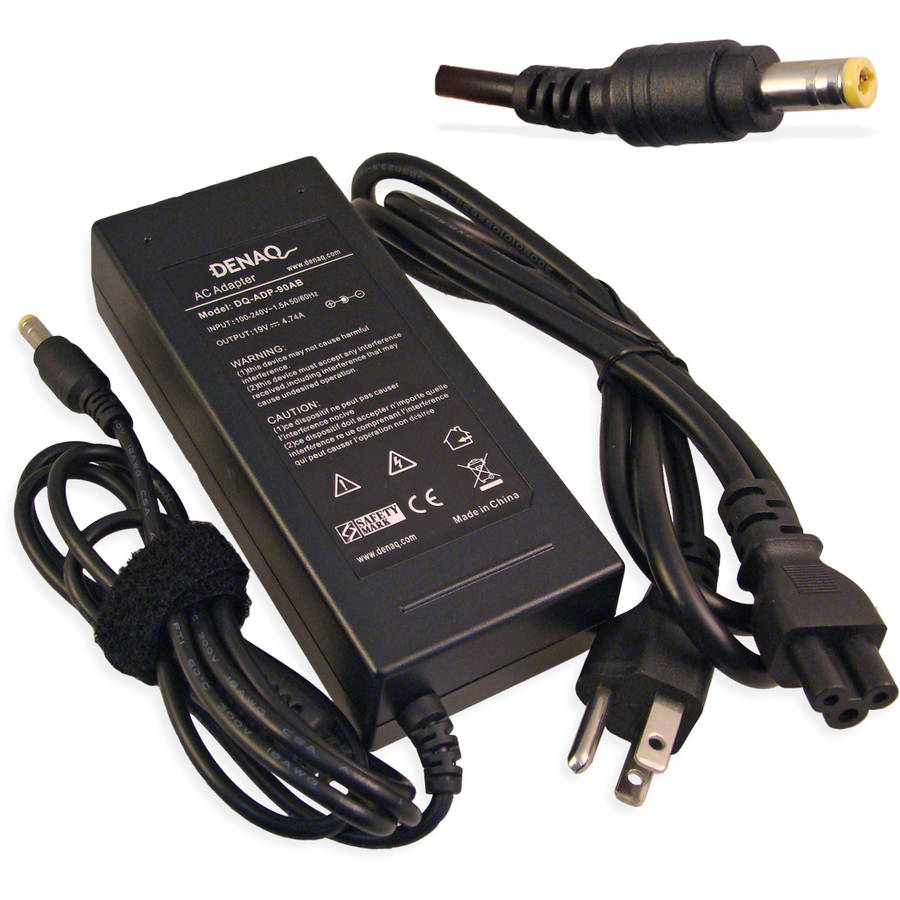 DENAQ 19-Volt 4.74-Amp 5.5mm-2.5mm AC Adapter for Acer Aspire and Ferrari Laptops