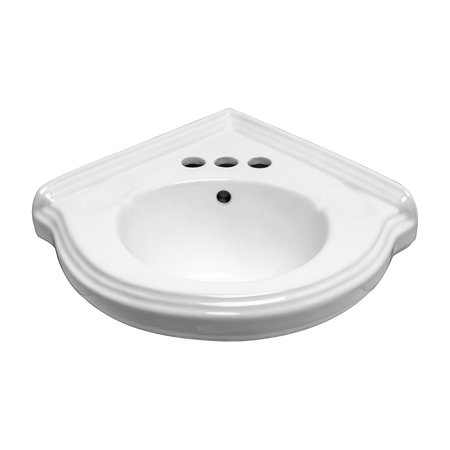 Corner Wall Mount Small Bathroom Sink White Gloss China Portsmouth with (Wall Mounted Sink Bracket)