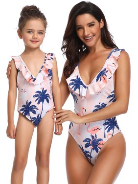 169e3e9c4a Product Image Mommy and Me swimwear Family Matching One Piece Swimming  Costume Swimwear Swimsuit Mom Daughter Women Kids