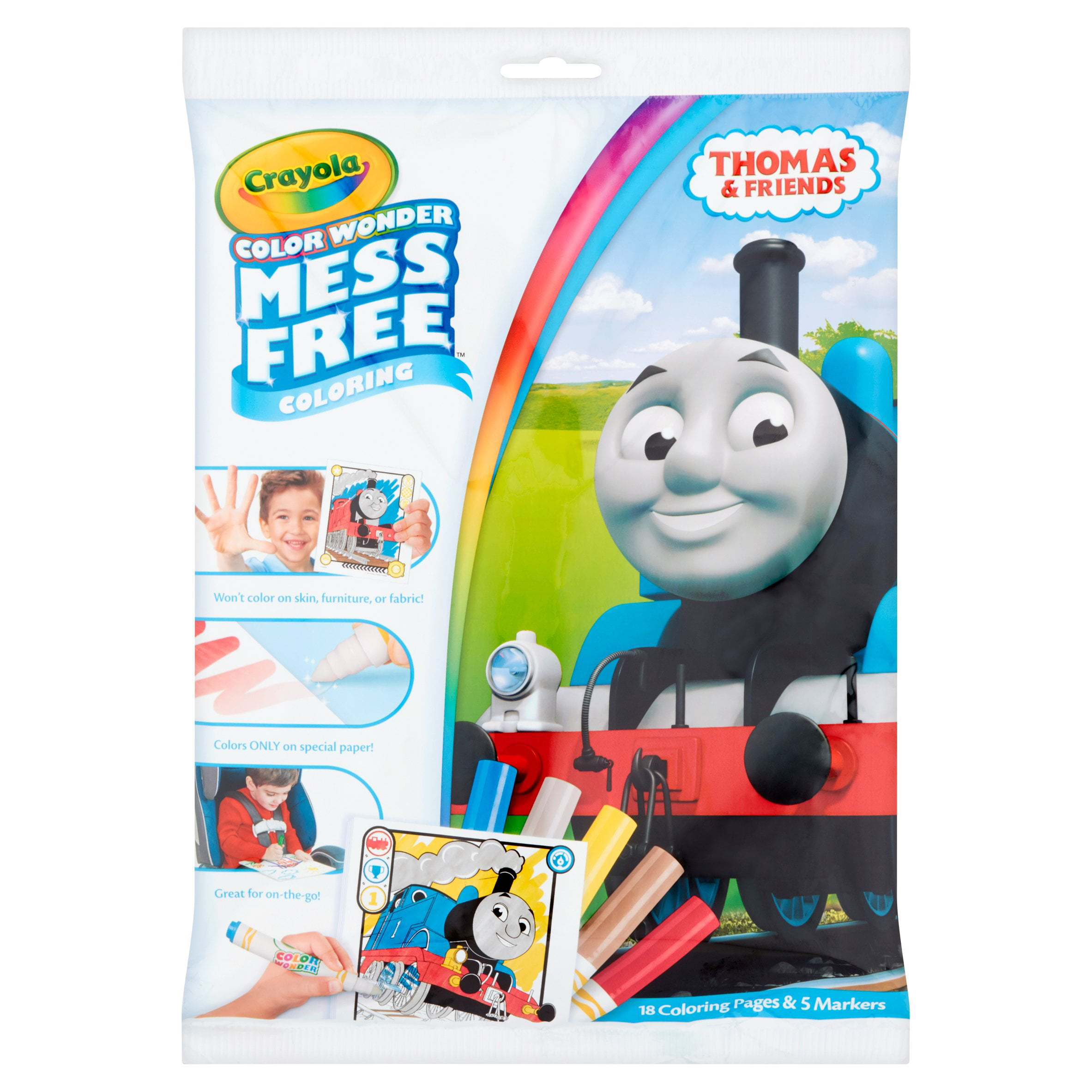 Crayola Color Wonder Coloring Book Set, Thomas the Train - Walmart.com