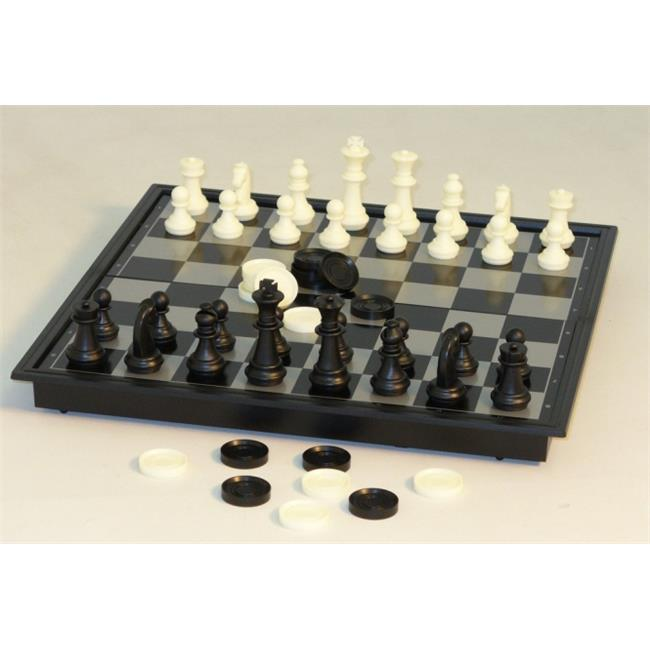 WorldWise Imports 68912 12 inch Magnetic Chess with Checkers by CNChess