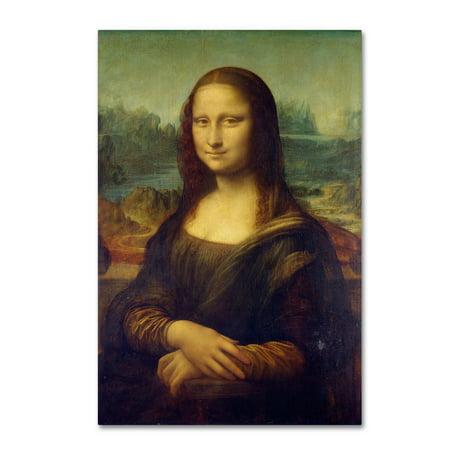 Trademark Fine Art 'Mona Lisa' Canvas Art by Da - Mona Lisa Framed