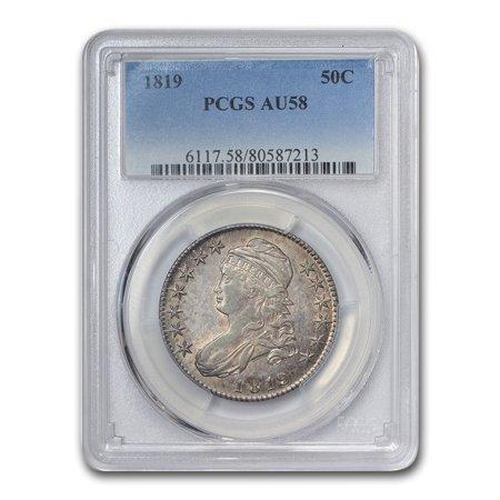 1819 Capped Bust Half Dollar AU-58 PCGS