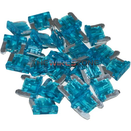 The Install Bay ATMLP15-25 Blue 15 Amp Mini Low Profile Fuse (25/pack) 15A