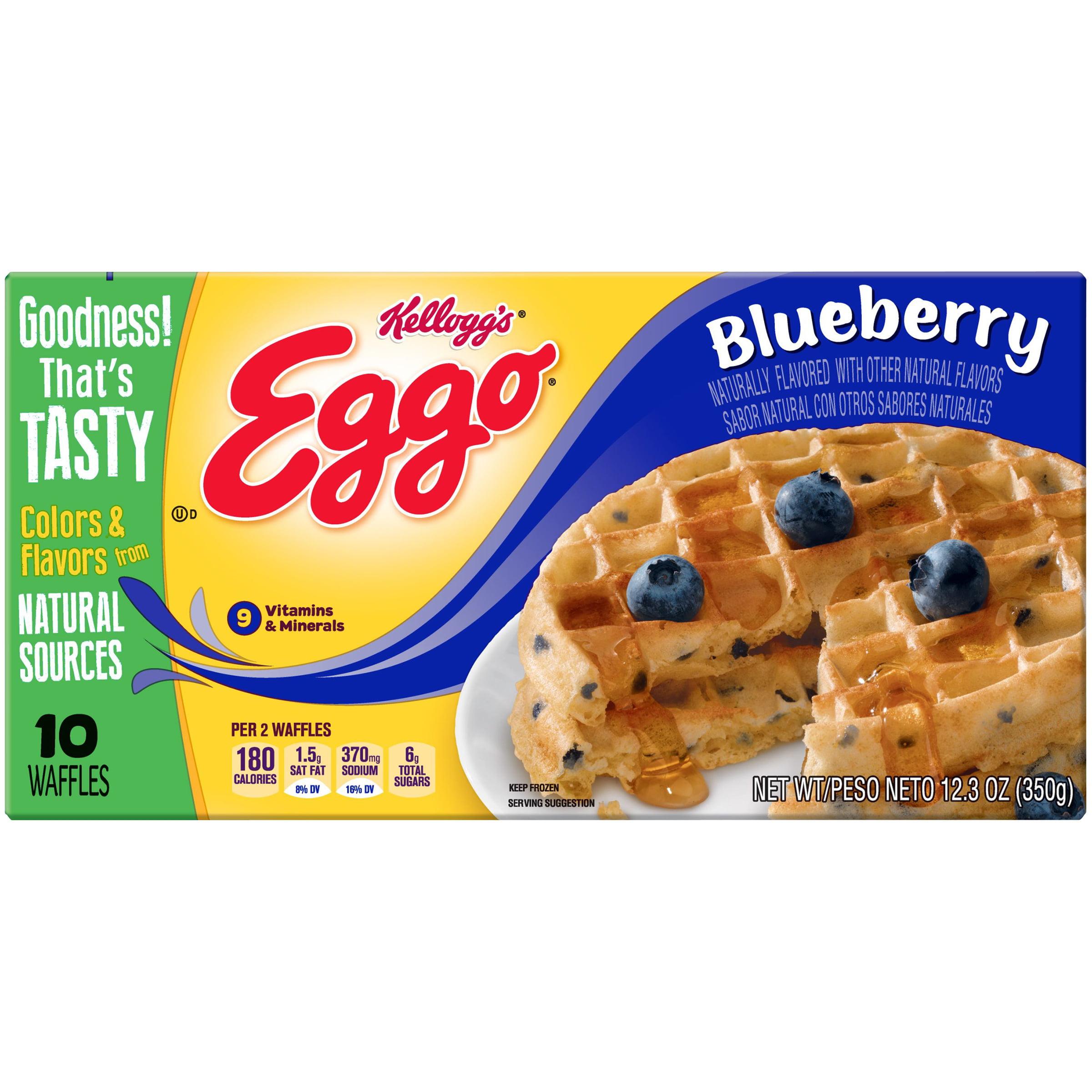 Kellogg's Eggo Blueberry Waffles 12.3 oz. Box