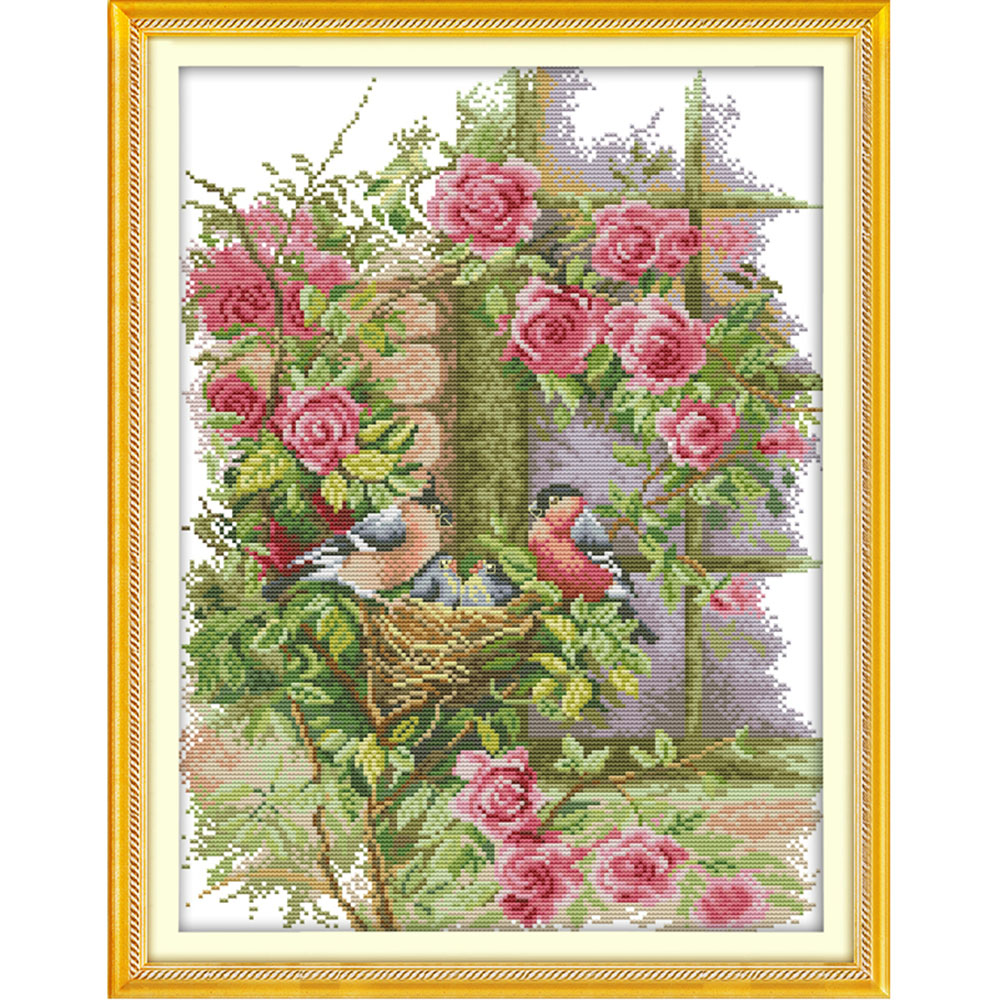 Premium canvas print,Stamped Needlepoint Printed Pattern Kits for Home Decor Cross-Stitching Sewing Embroidery Cross Stitch Kits