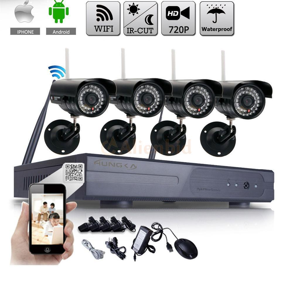 Zimtown Wireless 8CH 720P WIFI Security System IP Camera Waterproof NVR Night Vision Outdoor Without Hard Drive