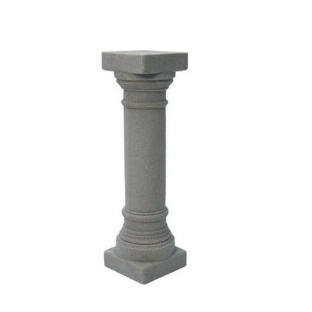 Emsco Group 2301-1 Greek Column Pedestal Outdoor Statuary, Granite
