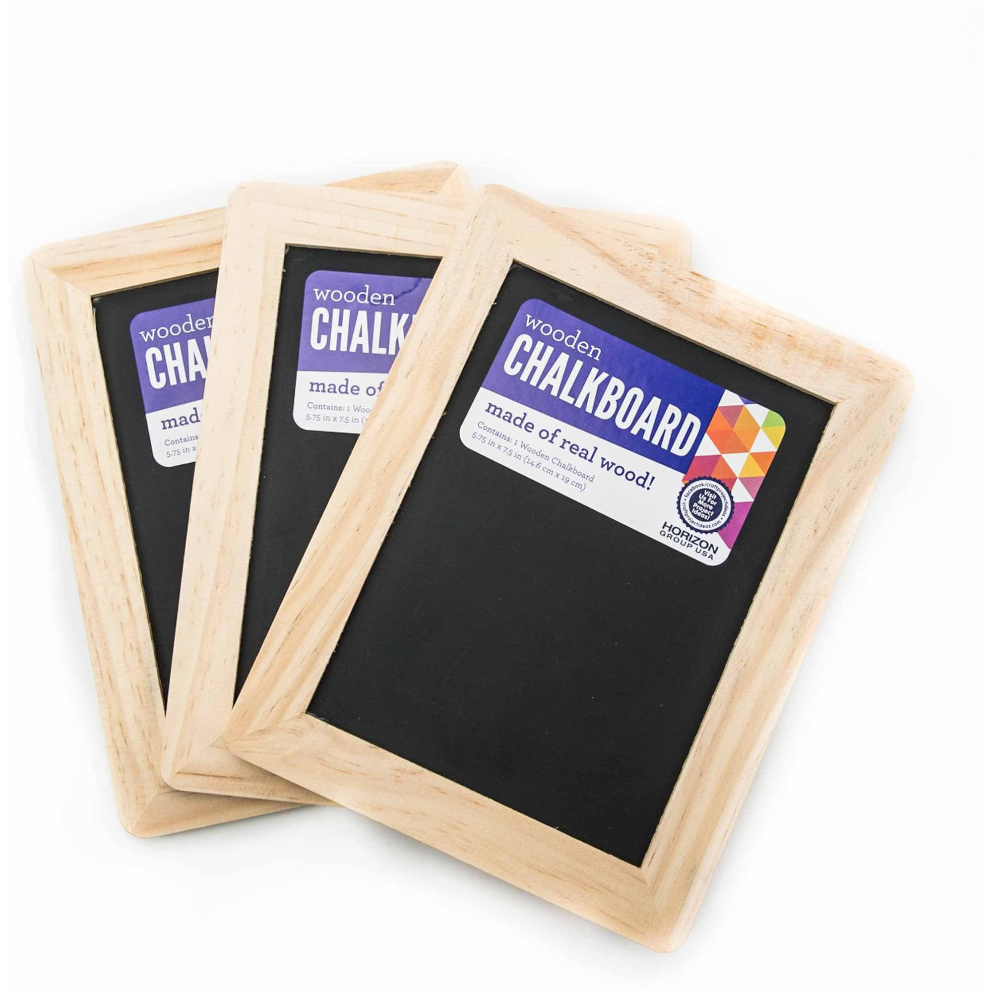 Wooden Chalkboard, 3ct. Set by Horizon Group USA by Horizon Group USA
